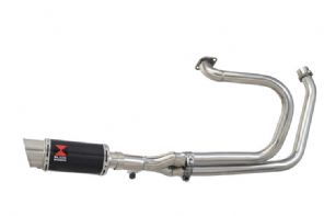 NTV600 NTV650 REVERE 1988-1998 Exhaust System with 200mm Round Carbon Silencer